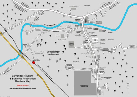 Carrbridge village map 2017