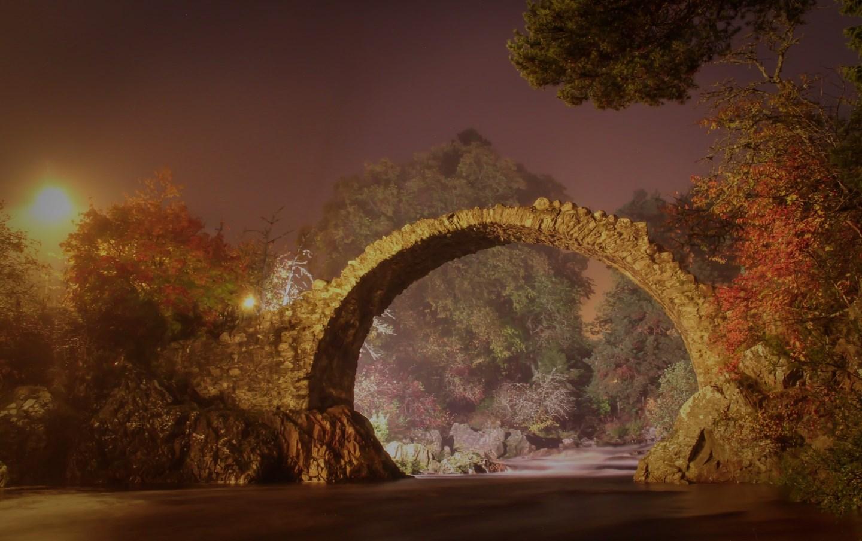 Carrbridge Bridge in Autumn