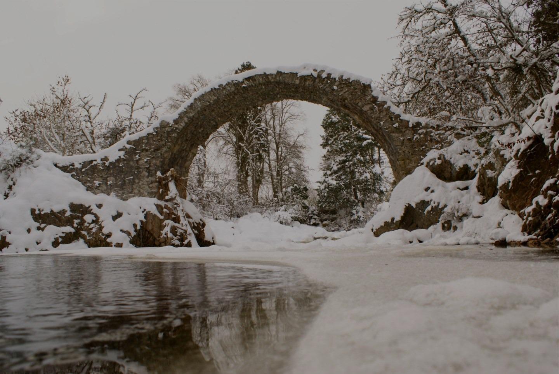 Carrbridge Bridge in Winter